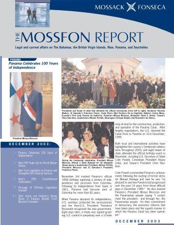MossFon Report December 2003.qxd - Mossack Fonseca  & Co.