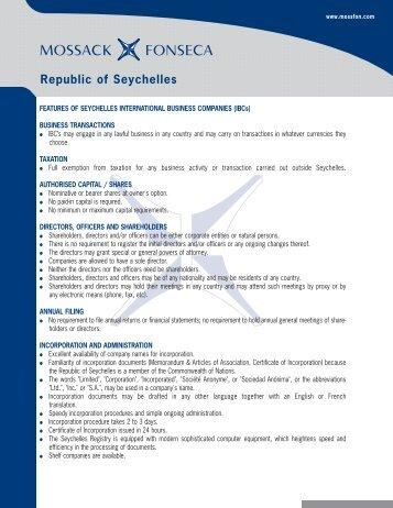 Seychelles Highlights English.qxp - Mossack Fonseca  & Co.