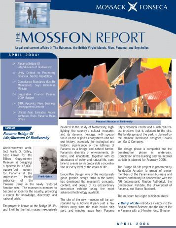 MossFon Report April 2004.qxd - Mossack Fonseca  & Co.