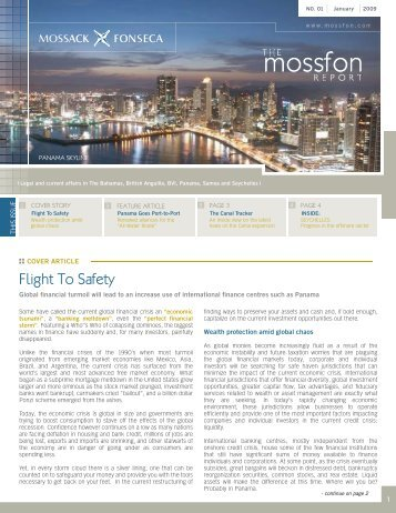 Flight To Safety - Mossack Fonseca  & Co.