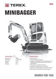 MINIBAGGER - Baumaschinen Handel GmbH