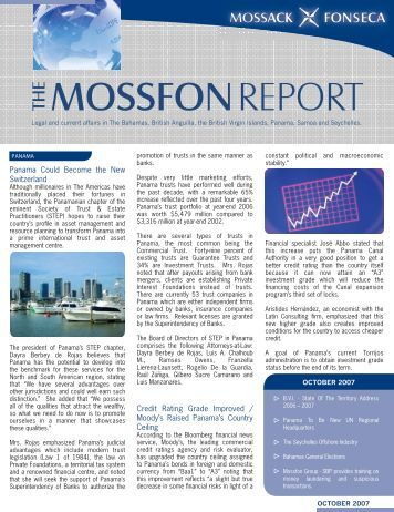 mossfon report - Mossack Fonseca  & Co.