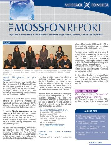 MOSSFONREPORT - Mossack Fonseca  & Co.