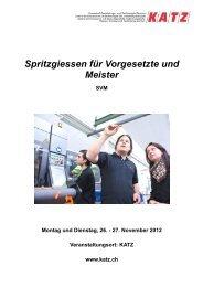 Flyer zum Kurs - KATZ | Kunststoff Ausbildungs- und Technologie ...