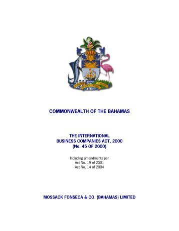 COMMONWEALTH OF THE BAHAMAS - Mossack Fonseca  & Co.