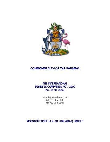 COMMONWEALTH OF THE BAHAMAS - Mossack Fonseca  & Co.