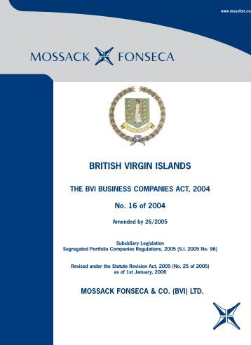 BRITISH VIRGIN ISLANDS - Mossack Fonseca  & Co.