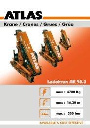 Krane / Cranes / Grues / Grúa - ATLAS Maschinen GmbH