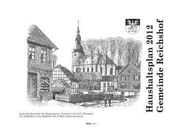 Haushaltsplan_2012. pdf - Gemeinde Reichshof