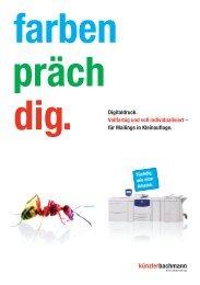 Broschüre Digitaldruck - KünzlerBachmann Directmarketing