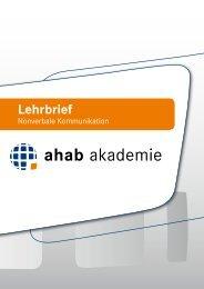 ahab-akademie.de Lehrbrief Nonverbale Kommunikation
