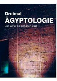 Dreimal Ägyptologie - Abenteuer Philosophie