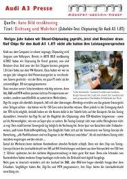 Auto Bild test&tuning (1/2012) Dichtung und Wahrheit - MTM