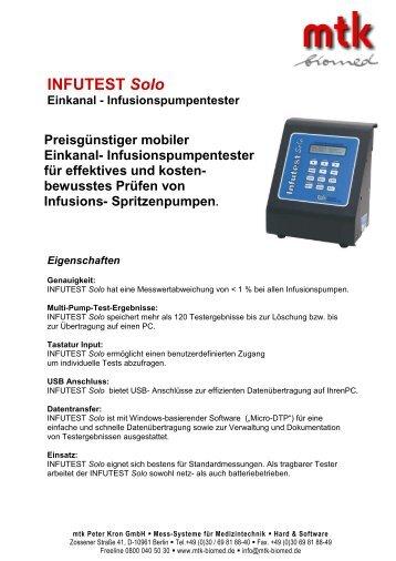 INFUTEST Solo - MTK Peter Kron GmbH