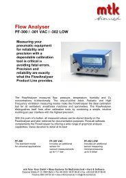 Flow Analyser PF-300 / -301 VAC / -302 LOW - MTK Peter Kron GmbH