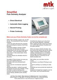 SmartSat Puls Oximetry Analyzer - MTK Peter Kron GmbH