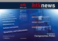 Fachgerechtes Prüfen - MTK Peter Kron GmbH