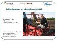 Präsentation Businessplan - Agritechnica