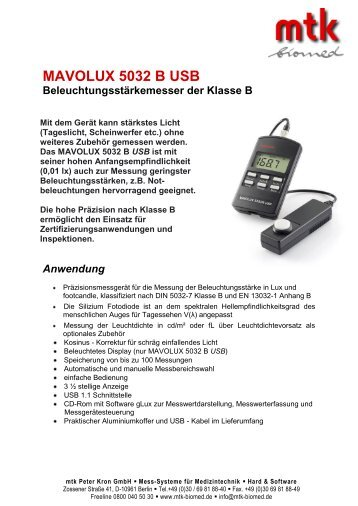 Datenblatt (207.34 kb) - MTK Peter Kron GmbH