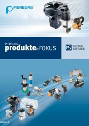 PIERBURG Produkte im Fokus - MS Motor Service International GmbH