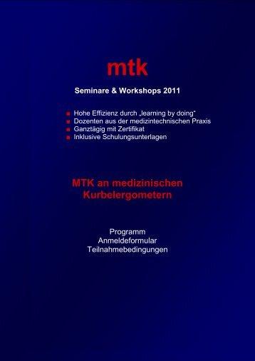 Informationen & Anmeldefax (113.63 kb) - MTK Peter Kron GmbH