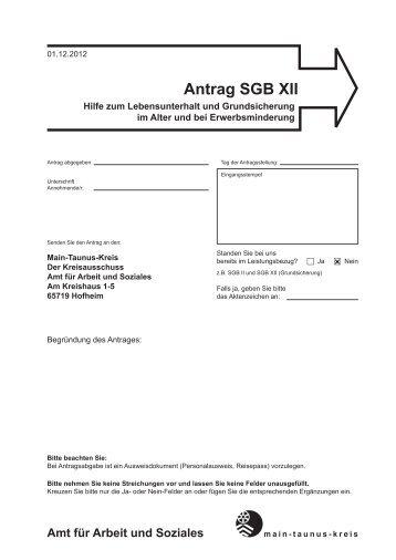 Antrag SGB XII - Main-Taunus-Kreis