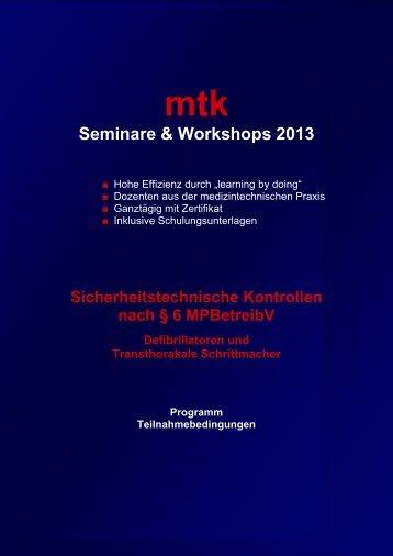 Informationen & Anmeldefax (201.77 kb) - MTK Peter Kron GmbH