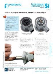 Informacje serwisowe - MS Motor Service International GmbH