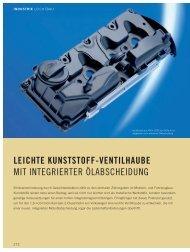 LElCHTE KUNSTSTOFF-VENTlLHAUBE MIT INTEGRIERTER ...