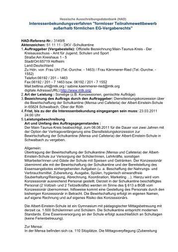 Hessische Ausschreibungsdatenbank (HAD) - Main-Taunus-Kreis