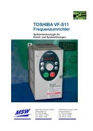 TOSHIBA VF-S11 Frequenzumrichter - MSW Motion Control GmbH