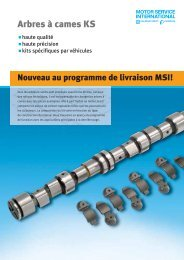 Arbres à cames KS - MS Motor Service International GmbH