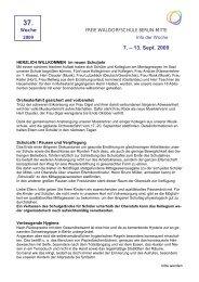 7. – 13. Sept. 2009 - Freie Waldorfschule Berlin-Mitte - Waldorf.net
