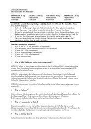 Information für den Anwender ARCOXIA® 30 mg Filmtabletten - MSD