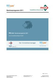 Seminarprogramm 2011 - mse Immobiliensoftware GmbH