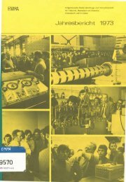 Jahresbericht 1973 - Eawag-Empa Library / Empa-Eawag Bibliothek
