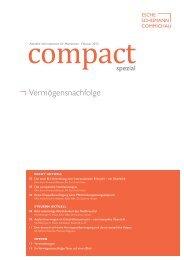compact Spezial – Vermögensnachfolge, 02/2013 - Esche ...