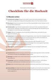 Checkliste für die Hochzeit - Geschenke.de
