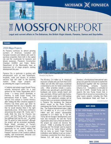 mossfon report the - Mossack Fonseca  & Co.
