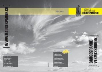 PDF Firmenbroschüre herunterladen - Keller + Steiner AG
