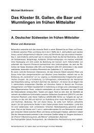 Das Kloster St. Gallen, die Baar und Wurmlingen im frühen Mittelalter