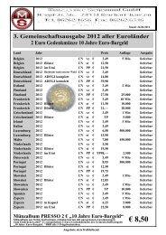 pdf 2 Euro Gemeinschaftsausgabe 2012 10 Jahre Euro