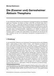 Gerresheimer Äbtissin Theophanu - Michael-buhlmann.de