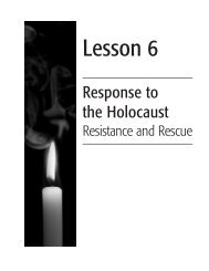 Lesson 6: Response to the Holocaust, Resistance and