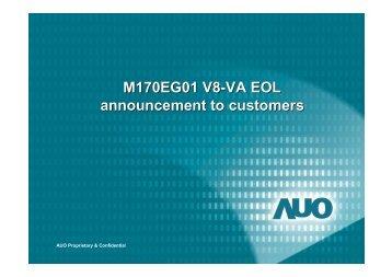 M170EG01 V8-VA EOL announcement to customers