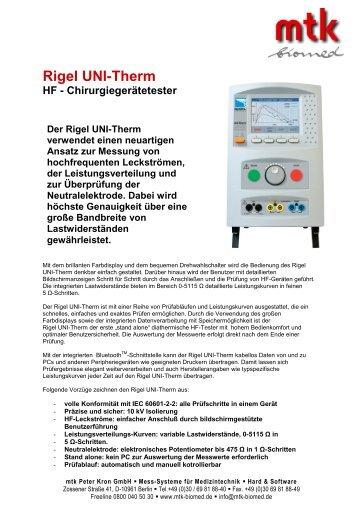 Rigel UNI-Therm - MTK Peter Kron GmbH