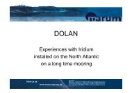 Monitoring and logging of relevant housekeeping data of - Marum