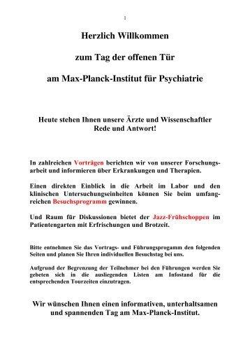 Priv.-Doz. Dr. med. Axel Steiger - Max-Planck-Institut für ...