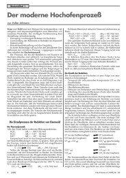 Der moderne Hochofenprozeß - Friedrich Verlag