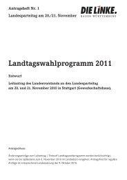 Landtagswahlprogramm 2011 - DIE LINKE. LV Baden-Württemberg
